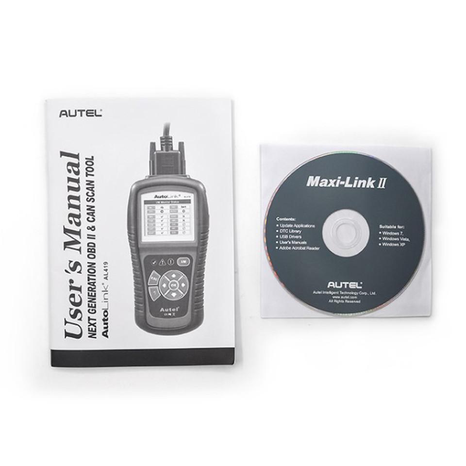 Autel AutoLink Al419 OBD2 Car Diagnostic Scanner Code Reader