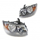 Headlights for Nissan pulsar N16 hatchback in black single 2002-2006