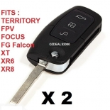 Remote Flip Key BF FG Falcon Focus Territory 2 PCS for FORD