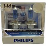 FREE T10 PARKERS H4 CRYSTAL VISION 12V 60/55W 4300K White HALOGEN BULB German Made