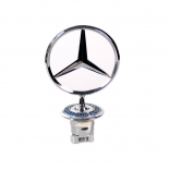 MERCEDES BENZ BONNET BADGE EMBLEM SPRING MOUNTED W140 OZ SELLER