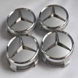 MERCEDES BENZ CHROME AMG STYLE WHEEL CENTER CAP SET OF 4pc, size 2 7/8