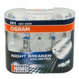 110% Night Breaker Unlimited H1 Headlight Bulb Globes 12V 55W Pair German Made