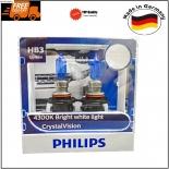 FREE T10 PARKERS HB3 CRYSTAL VISION 12V 65W 4300K HALOGEN BULB 9005CVSM German Made