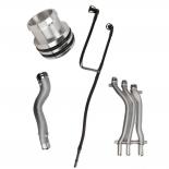 4PCS Engine Coolant Hose Kit fit 2002-2007 Porsche Cayenne Turbo S 4.5L V8 German Made