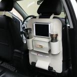 Car Back Seat Hanging Bag Storage Organizer Pocket Travel iPad Holder PU Leather German Made