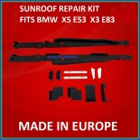 Sunroof Clips and Rail Mount Bracket repair kit fit BMW E53 E83 X5 X3 00-06