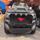 Front Grill Fits Ford Ranger PX2 MK2 Wildtrak   2015 - 2018  LED Black mustang style