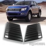 Black Bonnet Scoop Hood Fit Ford Ranger XLT wildtrak PX2 PX3 2012-2020 pair