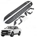 Side Step Bar fits Ford Ranger Running Boards Black Steel 2016-2020 Raptor design