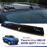 Front Roof Spoiler For Toyota Hilux DRL Light Led SR sr5 2015-2020