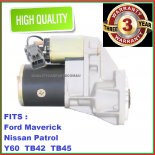 Starter Motor fit Nissan Y60 Patrol engine TB42 4.2L 94-on  NEW WARRANTY