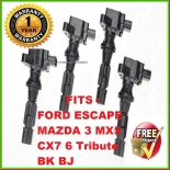 4X Ignition Coil for Mazda 3 BK 6 BJ MX5 NC CX7 Tribute Ford Escape ZC ZD