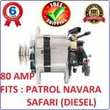 Alternator with Pump for Nissan Navara 4WD engine TD27 2.7L diesel 1988-1992