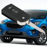 Flip remote Key case shell for Mazda 2 mazda 3 5 & 6 RX7 RX8 cx5 cx7 cx9 mx5 3 BUTTON