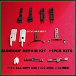 Sunroof Clips and Rail Mount Bracket repair kit  fit BMW E46 3 series 1998 - 05
