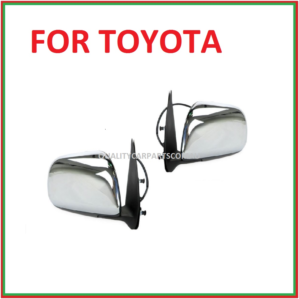 Door mirrors door Left and right sides (electric) Chrome for Toyota Hilux 2005-2011