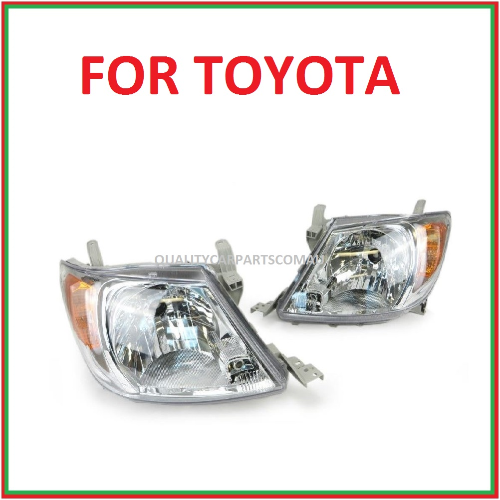 Headlights Left & Right side orange indicator lens for toyota Hilux 2005-2011 (pair)
