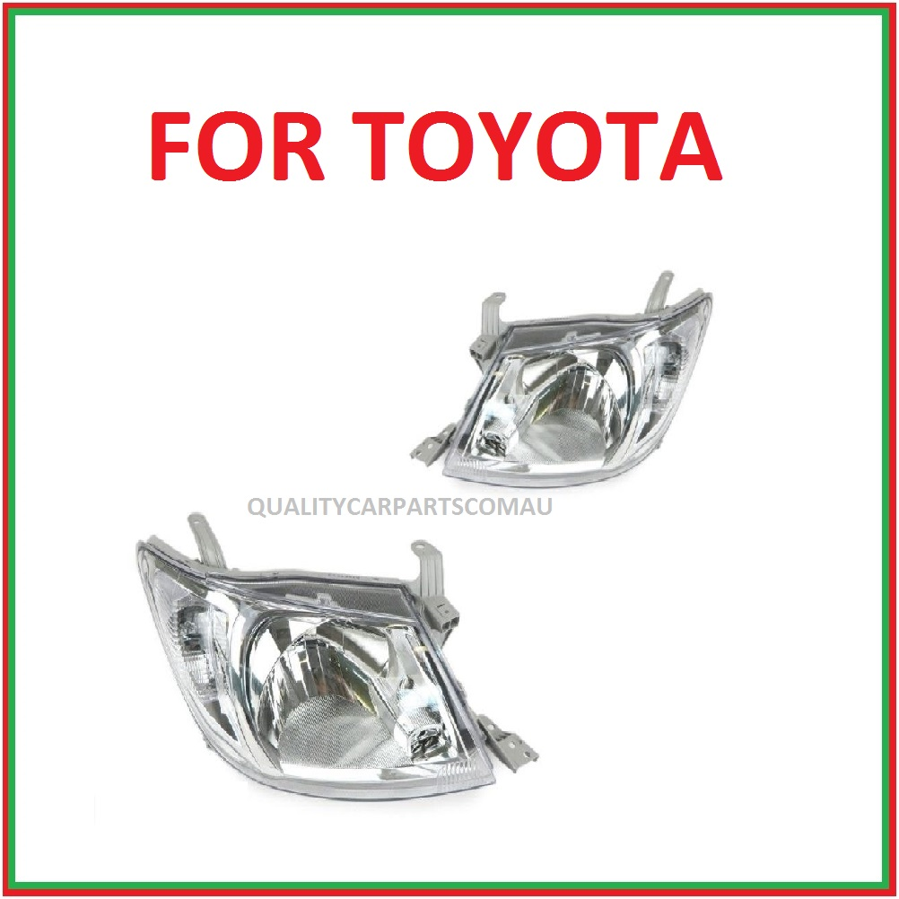Headlights white lens for toyota Hilux 2005-2011 pair