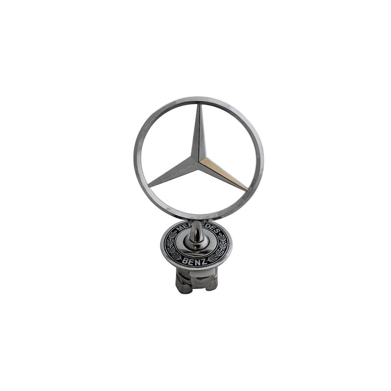 mercedes benz bonnet badge emblem spring mounted w140 oz seller - qualitycarparts