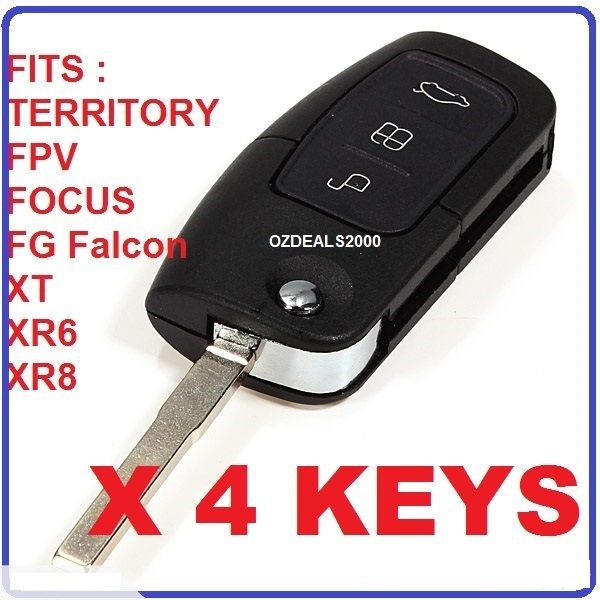 Remote Flip Key BF FG Falcon Focus Territory 4PCS HUGE DISCOUNT for FORD