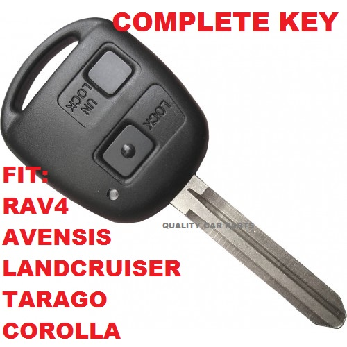 Remote Key with chip for Toyota Transponder Tarago Avensis RAV4 Corolla transmitter