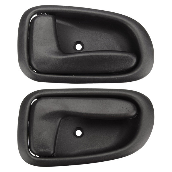 Front pair Inside Door Handle black for 94-98 Toyota Corolla AE101 AE102