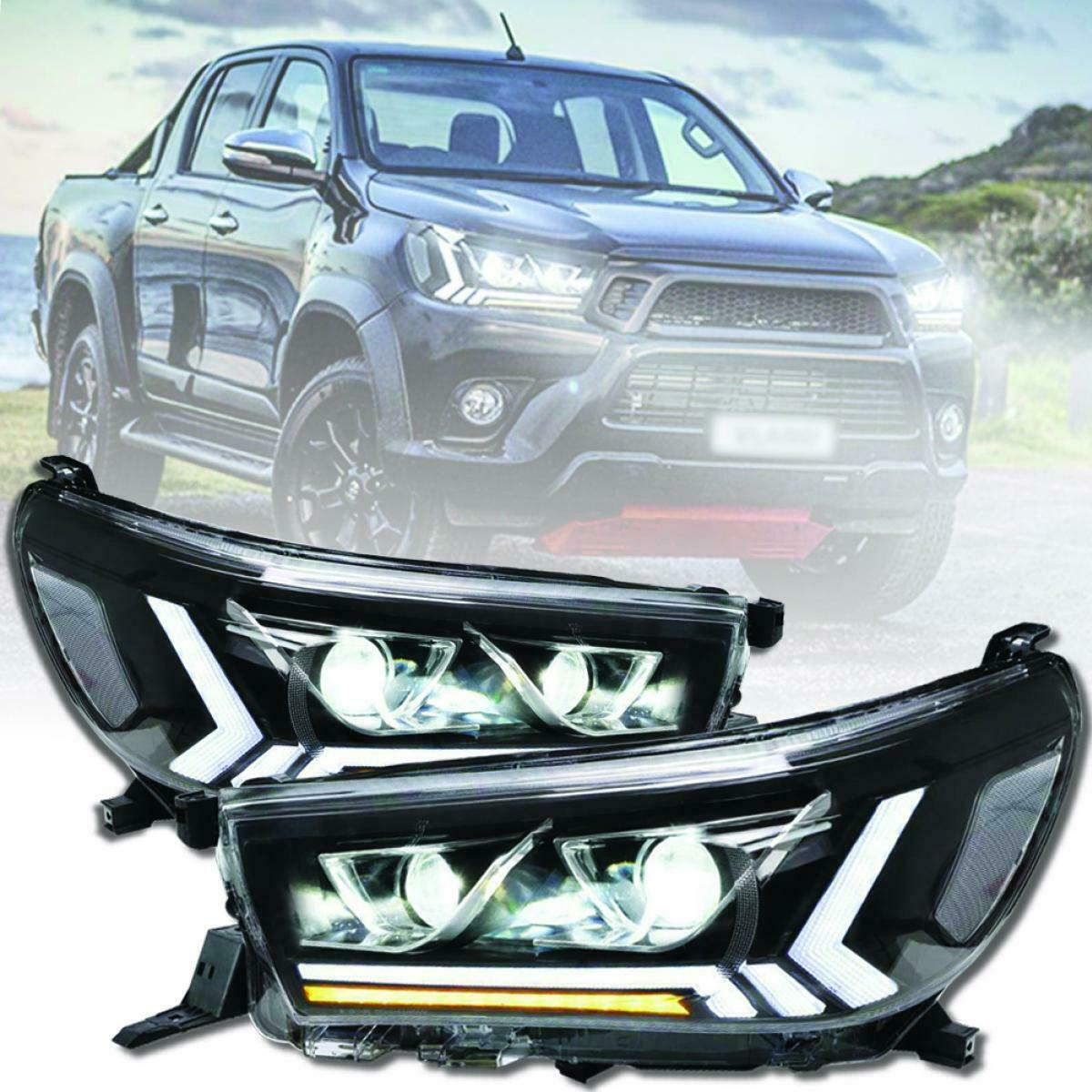 Headlight for TOYOTA HILUX Full LED DRL Sequential Turn Signal Lamp 2015-2019