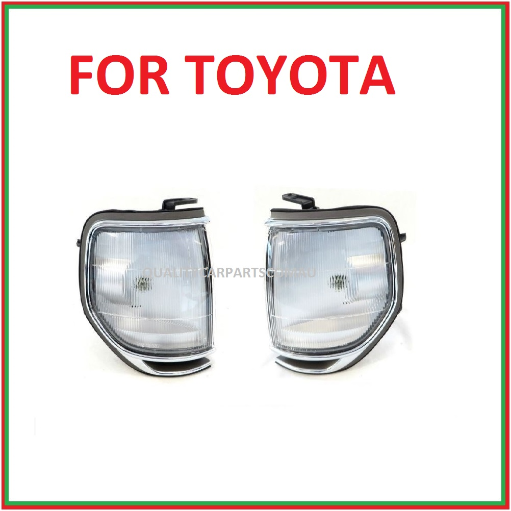 Corner park lights 1989-1998 Pair (chrome rim) L&R for Toyota landcruiser 80 ser