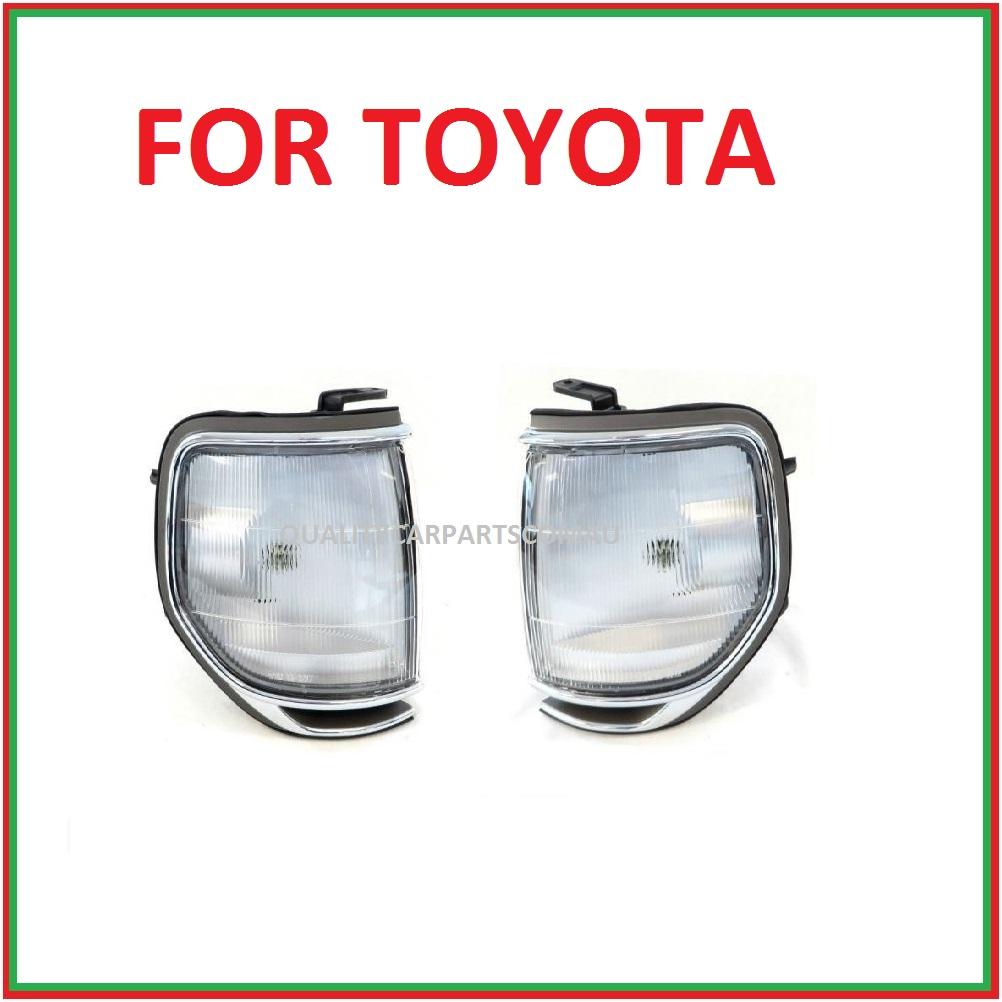 Corner park lights 1989-1998 Pair (chrome rim) L&R for Toyota landcruiser 80 ser