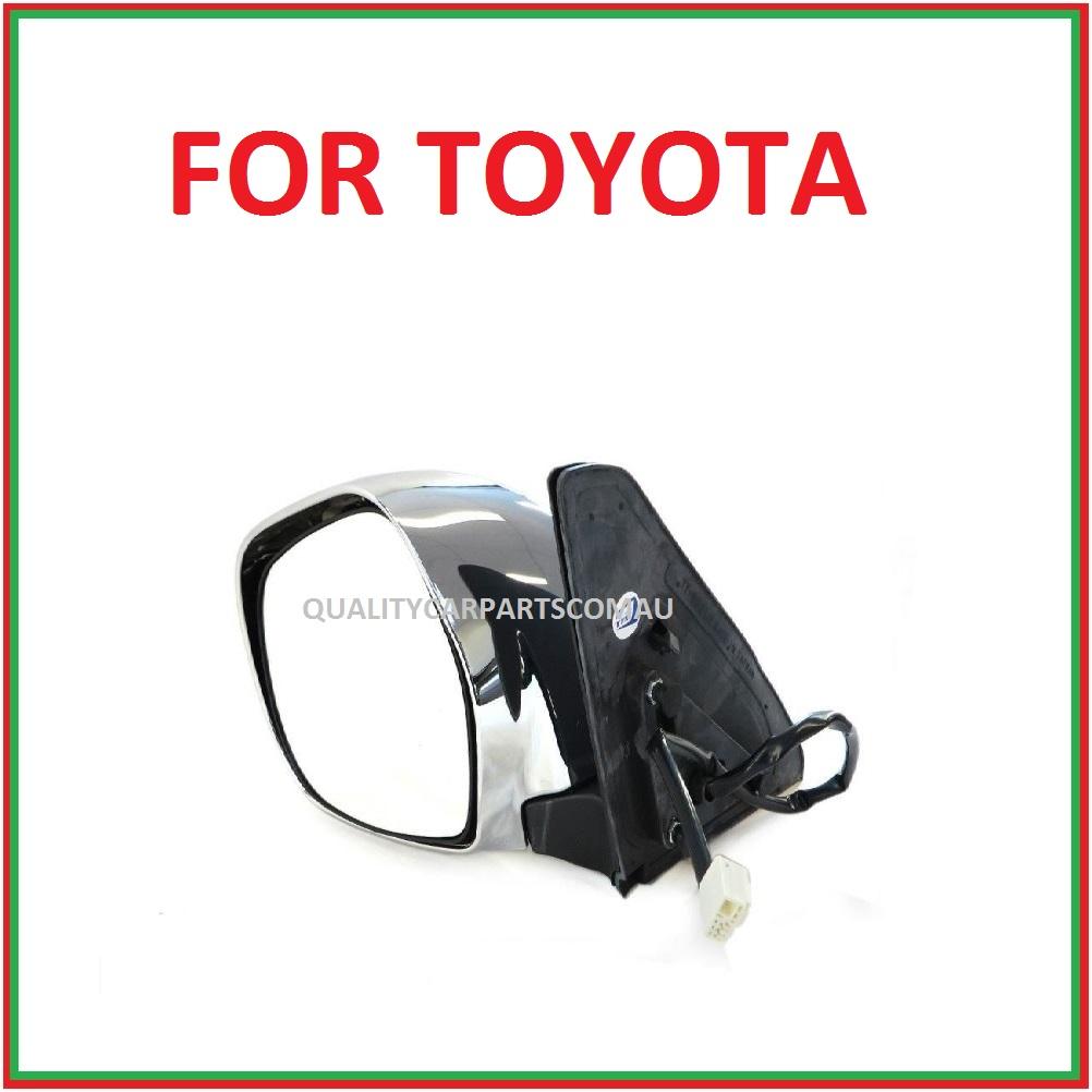 Door mirror electric left or right side (chrome) for Toyota Landcruiser Prado 03