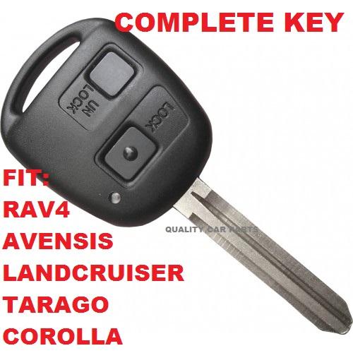 Remote Key with chip - Toyota Transponder Tarago Avensis RAV4 Corolla transmiter